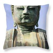 The Daibutsu Or Great Buddha, Close Up Throw Pillow