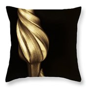 The Dance Of The Golden Moonflower Throw Pillow