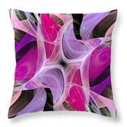 The Dancing Princesses Abstract Throw Pillow
