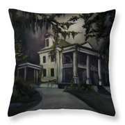 The Dark Plantation Throw Pillow by James Christopher Hill