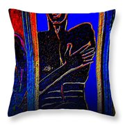 The Dark Side Throw Pillow by Randall Weidner
