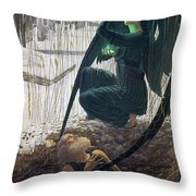 The Death And The Gravedigger Throw Pillow