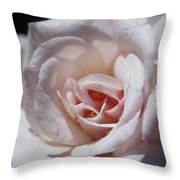 The Delicate Pale Pink Petals Throw Pillow