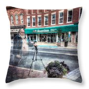 The Demon He's Back Throw Pillow