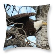The Descending Queen Throw Pillow