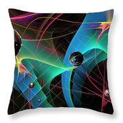 The Descent Into March Madness Throw Pillow