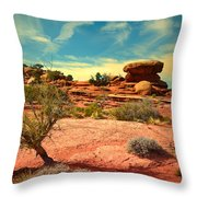 The Desert And The Sky Throw Pillow