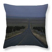 The Desolate Highway 50 Throw Pillow