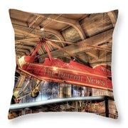 The Detroit News Airplane Dearborn Mi Throw Pillow