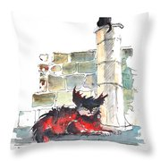 The Devils Advocat Throw Pillow