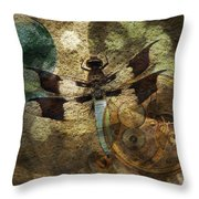 The Dharma Of The Dragonfly Throw Pillow
