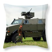 The Dingo II In Use By The Belgian Army Throw Pillow
