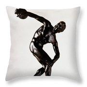 The Discobolus Throw Pillow