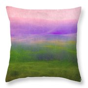 The Distant Hills Throw Pillow