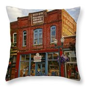 The Dixon Building In Grants Pass Throw Pillow