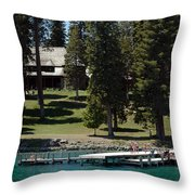 The Dock At Sugar Pine Point State Park Throw Pillow