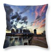The Dockyard Throw Pillow