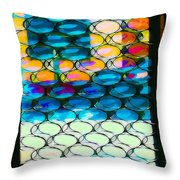 The Door At Galisteo Throw Pillow