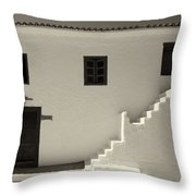 The Door Of The Chappel Bw Throw Pillow