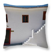 The Door Of The Chappel Throw Pillow