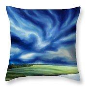 The Dragon Storm Throw Pillow