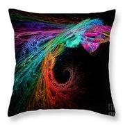 The Eagle Rainbow Throw Pillow