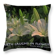 The Earth Laughs Throw Pillow