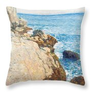 The East Headland Throw Pillow by Childe Hassam