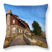 The Edge Of The Crater Throw Pillow
