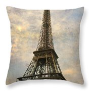 The Eiffel Tower Throw Pillow by Laurie Search