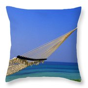 The Emerald Coast Throw Pillow by Thomas R Fletcher