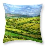 The Emerald Island Throw Pillow