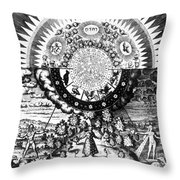 The Emerald Tablet, 1618 Throw Pillow