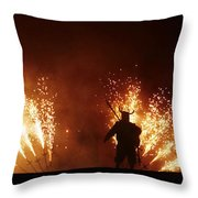 The Emergence Of The Devil Throw Pillow
