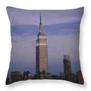 The Empire State Building Towers Throw Pillow