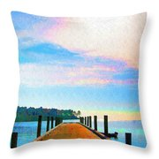 The End Of A Good Day Throw Pillow