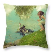 The End Of The Story Throw Pillow