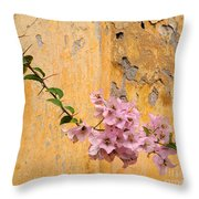 The Escaping Bougainvillea Throw Pillow