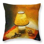 The Evening Lamp Throw Pillow