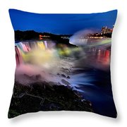 The Evening Rainbow Throw Pillow