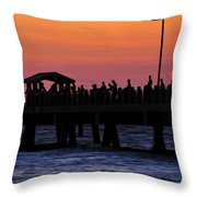 The Evenings Cast Throw Pillow