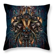 The Evils Rule This World Throw Pillow