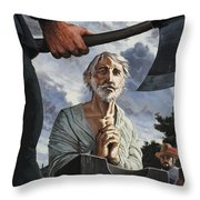 The Execution Of Walter Raleigh Throw Pillow