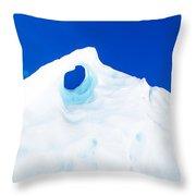 The Eye Of The Glacier Throw Pillow