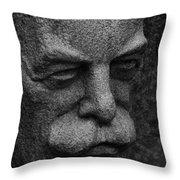 The Face Throw Pillow