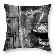 The Face Of Angkor Throw Pillow