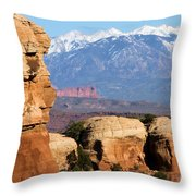 The Face Of Arches Throw Pillow