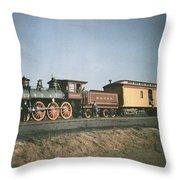 The Fair Of The Iron Horse, Baltimore Throw Pillow