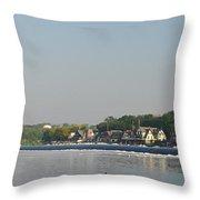The Fairmount Dam And Boathouse Row Throw Pillow