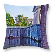 The Fairmount Waterworks In Philadelphia Throw Pillow